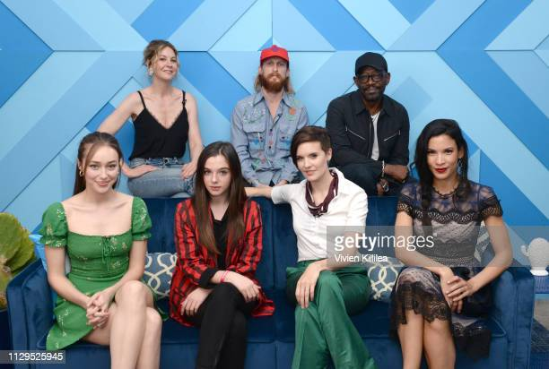 Alycia DebnamCarey Jenna Elfman Alexa Nisenson Austin Amelio Maggie Grace Lennie James and Danay Garcia attend SXSW 2019 Twitter For Fear the Walking...