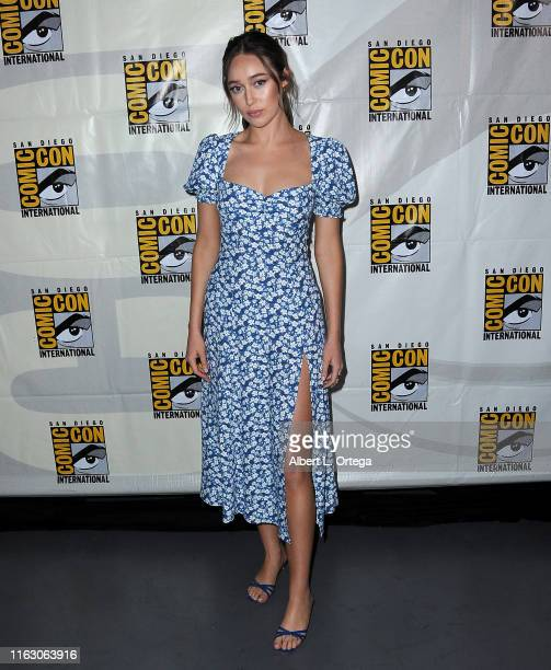 Alycia DebnamCurry attends the Fear The Walking Dead Panel during 2019 ComicCon International at San Diego Convention Center on July 19 2019 in San...