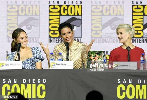 Alycia DebnamCurry Danay Garcia and Maggie Grace speak at the Fear The Walking Dead Panel during 2019 ComicCon International at San Diego Convention...