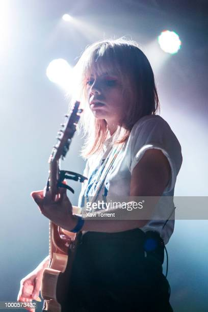 Alynda Lee Segarra of Hurray for the Riff Raff performs in concert at sala Razzmatazz during Guitar Bcn on July 16 2018 in Barcelona Spain
