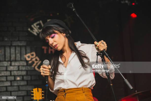 Alynda Segarra of Hurray for the Riff Raff performs at the Brudenell Social Club on March 20 2017 in Leeds United Kingdom
