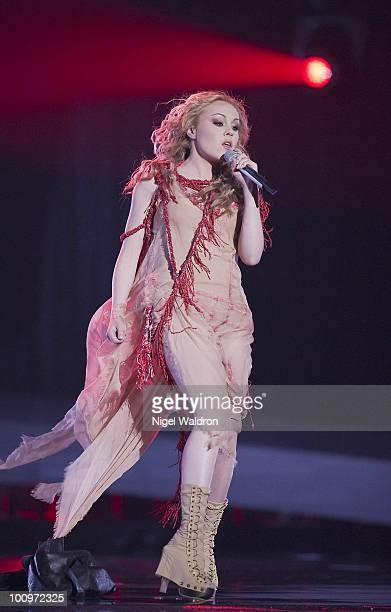Alyosha of Ukraine performs during the dress rehearsal of the Eurovision Song Contest Oslo 2010 Norway on May 26 2010 in Oslo Norway