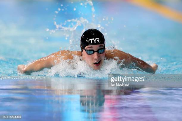 Alys Thomas of Great Britain competes in the Women's 200m Breaststroke SemiFinal 2 during the Swimming on Day Four of the European Championships...