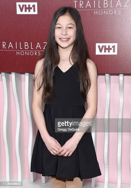 Alysa Liu arrives at VH1 Trailblazer Honors at The Wilshire Ebell Theatre on February 20 2019 in Los Angeles California
