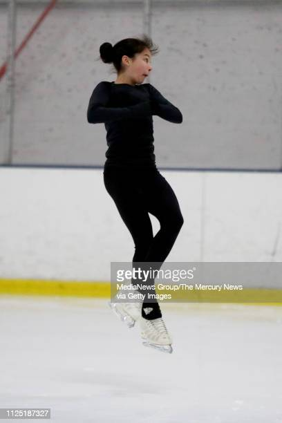 Alysa Liu of Richmond practices her technical program at Oakland Ice Center in Oakland Calif on Friday Jan 11 2019 Liu's technical program includes...