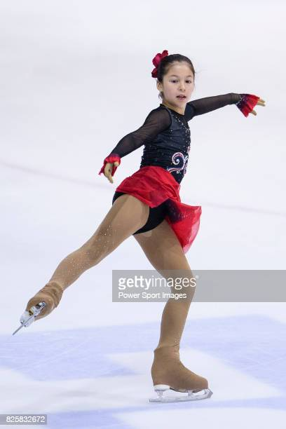 Alysa Liu of USA competes in Advanced Novice Girls group during the Asian Open Figure Skating Trophy 2017 on August 02 2017 in Hong Kong Hong Kong