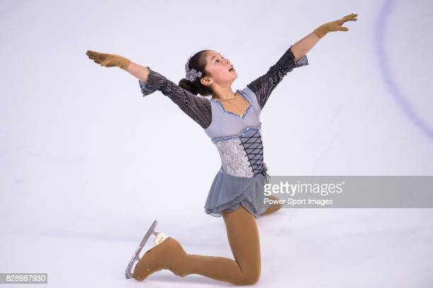Alysa Liu of USA competes in Advanced Novice Girls group during the Asian Open Figure Skating Trophy 2017 on August 3 2017 in Hong Kong Hong Kong