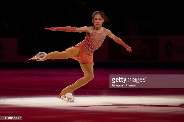 Alysa Liu skates in the skating spectacular after the 2019 US Figure Skating Championships at Little Caesars Arena on January 27 2019 in Detroit...