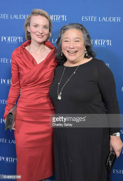 Alyse Nelson and Tina Tchen attend the PORTER Incredible Women Gala 2018 at Ebell of Los Angeles on October 9 2018 in Los Angeles California