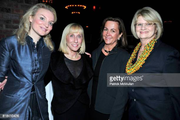Alyse Nelson Julie Iscol Abby Dix and Geraldine Laybourne attend VITAL VOICES Event at The Bowery Hotel on January 19 2010 in New York City