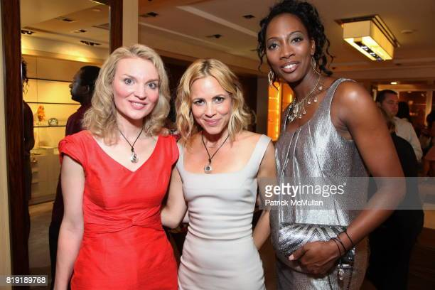 Alyse Nelson Maria Bello and Anissa Todma attend MARIA BELLO and JUDITH LEIBER Host 'Don't Forget Haiti' Launch Party with DJ Sedeck Jean at Judith...