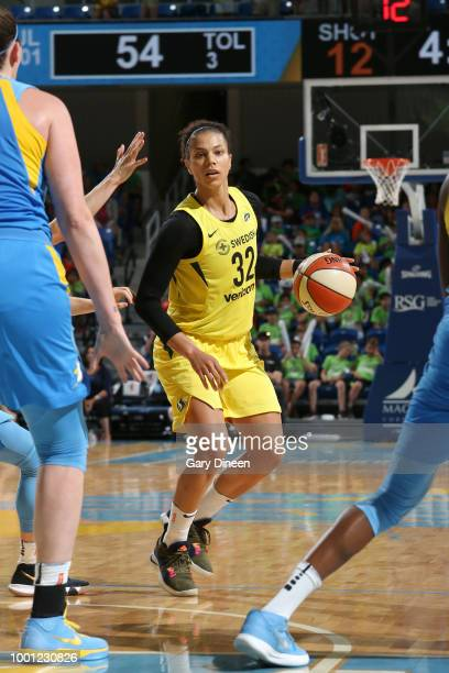 Alysha Clark of the Seattle Storm handles the ball against the Chicago Sky on July 18 2018 at the Wintrust Arena in Chicago Illinois NOTE TO USER...