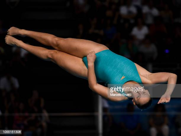 Alysha Koloi of Australia competes in the Women's 3m Springboard Preliminary during day 9 of Buenos Aires 2018 Youth Olympic Games at Aquatics Center...