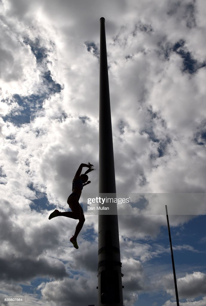 Alysha Newman of Canada competes in the Womens Pole Vault during the Muller Grand Prix Birmingham meeting on August 20, 2017 in Birmingham, United Kingdom.