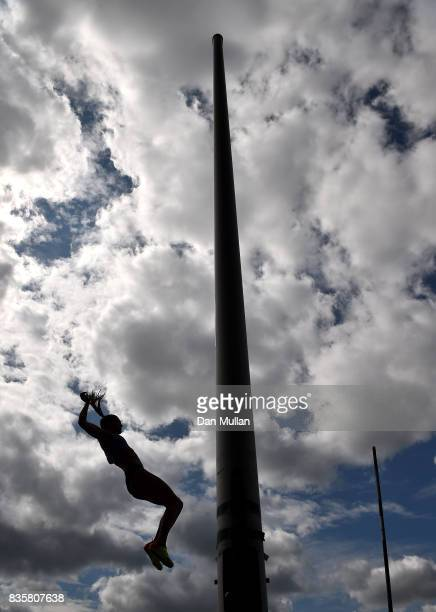 Alysha Newman of Canada competes in the Womens Pole Vault during the Muller Grand Prix Birmingham meeting on August 20 2017 in Birmingham United...