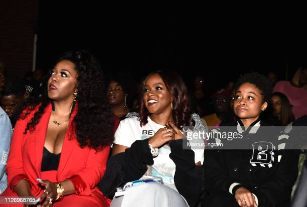 Alysha Pamphile Gia Peppers and Rebecca Francois at House Of BET An Immersive Experience on February 02 2019 in Atlanta City