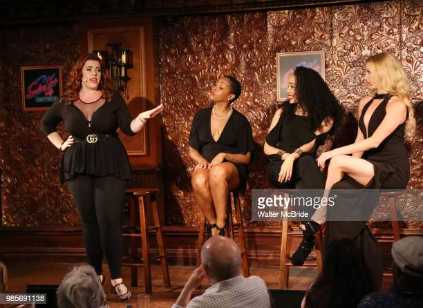 Alysha Umphress Dionne D Figgins Nicole Vanessa Ortiz and Emma Degerstedt during the Press Preview Presentation for the new production of 'Smokey...