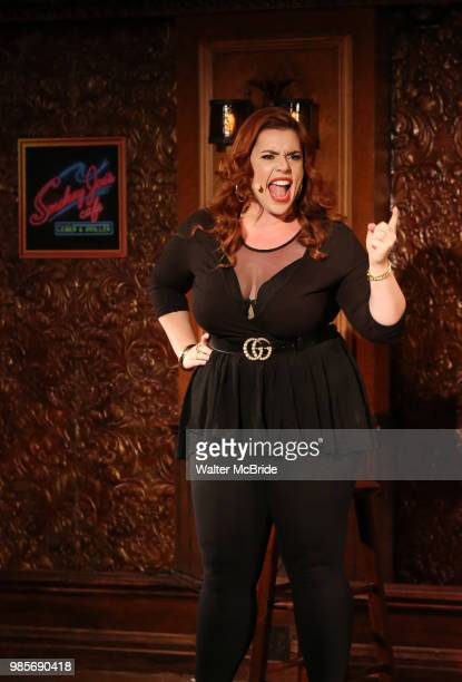 Alysha Umphress during the Press Preview Presentation for the new production of 'Smokey Joe's Cafe' at Feinstein's/54 Below on June 27 2018 in New...
