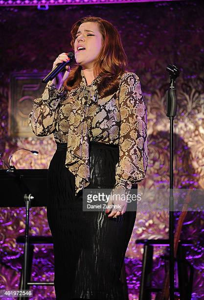 Alysha Umphress performs during the 54 Below Press Preview at 54 Below on January 22 2015 in New York City