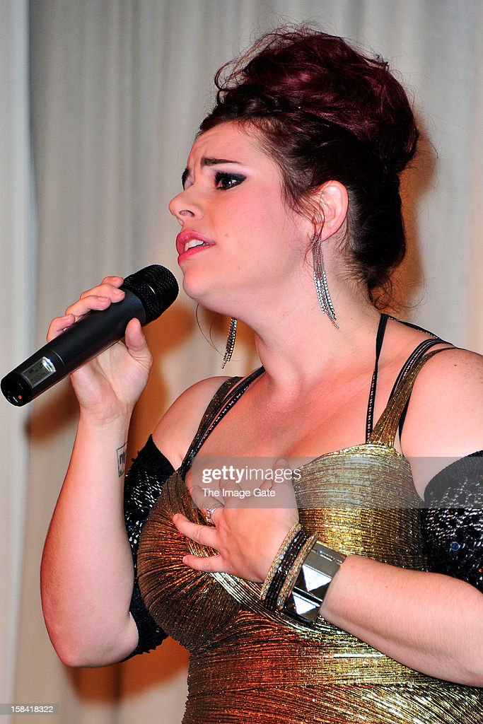 Alysha Umphress performs during the ASMALLWORLD Gala Dinner for Alzheimer Society at the Gstaad Palace Hotel on December 15, 2012 in Gstaad, Switzerland.