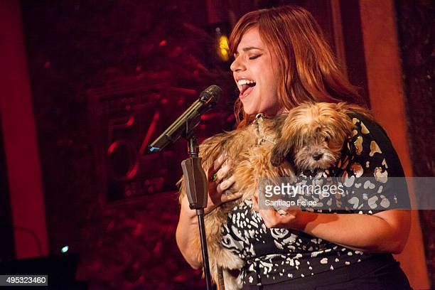 Alysha Umphress performs onstage at Cabaret Benefit For The Humane Society Of New York at 54 Below on November 1 2015 in New York City
