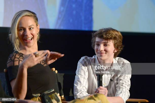 """Alyshia Ochse and Toby Nichols attend the screening of """"Desolation"""" during the 2017 Los Angeles Film Festival at Arclight Cinemas Culver City on June..."""
