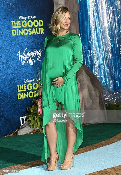 Alyshia Ochse arrives at the premiere of Disney-Pixar's 'The Good Dinosaur' on November 17, 2015 in Hollywood, California.