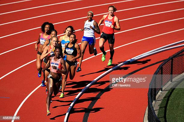 Alysia Montano runs in the first round of the Women's 800 Meters during the 2016 US Olympic Track Field Team Trials at Hayward Field on July 1 2016...
