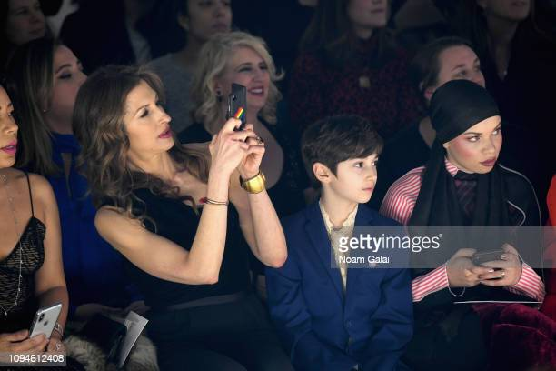 Alysia Reiner and Blair Imani attend the 11 Honore front row during New York Fashion Week The Shows at Gallery I at Spring Studios on February 6 2019...