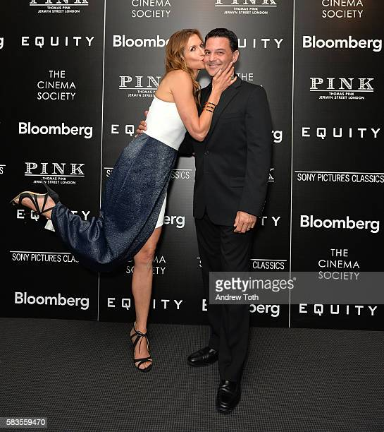 Alysia Reiner and David Alan Basche attend a screening of Sony Pictures Classics' 'Equity' hosted by The Cinema Society with Bloomberg and Thomas...