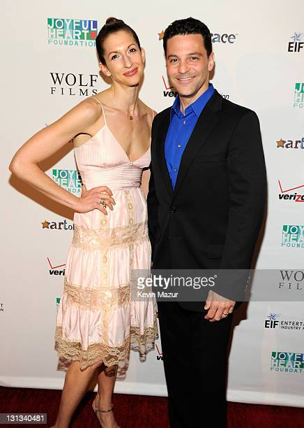 Alysia Reiner and David Alan Basche attend the 2011 Joyful Heart Foundation Gala at The Museum of Modern Art on May 17 2011 in New York City
