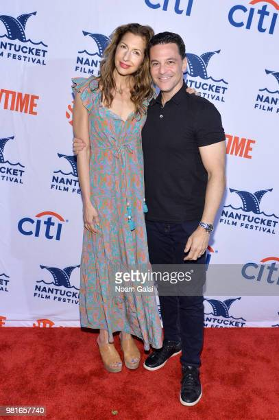 Alysia Reiner and David Alan Basche attend the AllStar Comedy Roundtable The Improv Takeover during the 2018 Nantucket Film Festival Day 3 on June 22...