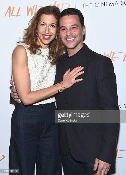 Alysia Reiner and David Alan Basche attend The Cinema Society Ruffino Host A screening Of All We Had Arrivals at Landmark Sunshine Cinema on December...