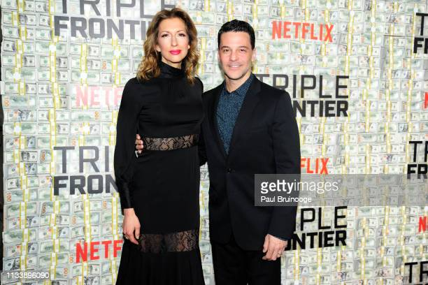 Alysia Reiner and David Alan Basche attend Triple Frontier World Premiere at Jazz at Lincoln Center on March 3 2019 in New York City