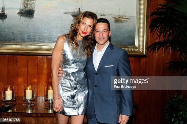 Alysia Reiner and David Alan Basche attends The Cinema Society With Synchrony And Avion Host The After Party For Marvel Studios' 'AntMan And The...