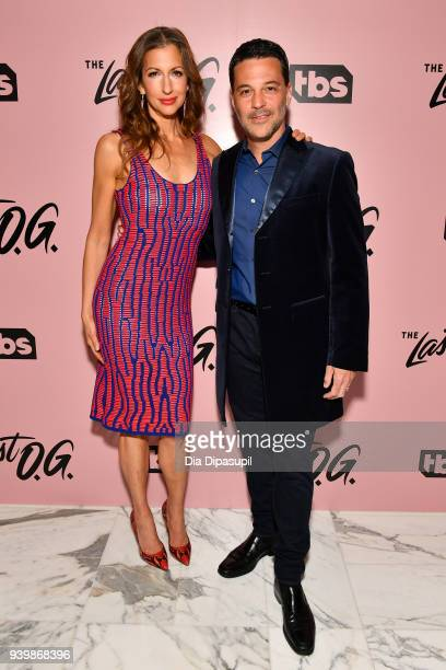 Alysia Reiner and David Alan Basche attends The Last OG New York Premiere at The William Vale on March 29 2018 in New York City