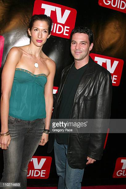 Alysia Reiner and David Alan Basche during Launch of the New Big TV Guide Magazine Red Carpet Arrivals at Home and Guest House in New York City New...
