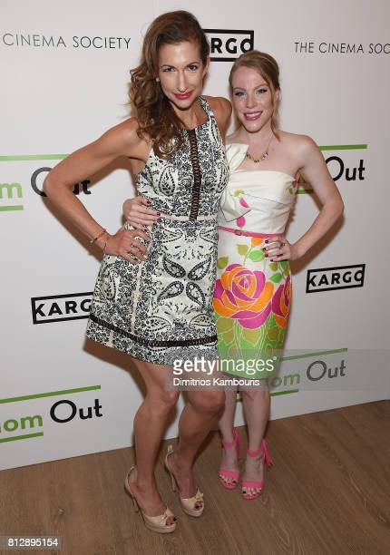 Alysia Reiner and Emma Myles attend The Cinema Society Hosts The Season 3 Premiere Of Bravo's Odd Mom Out at the Whitby Hotel on July 11 2017 in New...