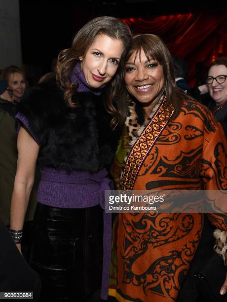 Alysia Reiner and Grace Hightower De Niro attend the after party for the premiere of IFC Films' 'Freak Show' hosted by The Cinema Society at Public...