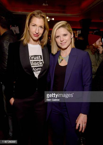 Alysia Reiner and Kate Bolduam attend the special screening of COLLEGE BEHIND BARS after party at Red Rooster on November 12 2019 in New York City