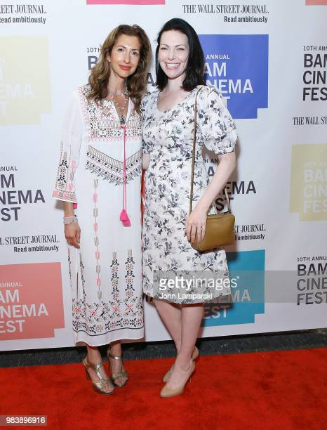 Alysia Reiner and Laura Prepon attend 2018 BAM Cinema Fest Centerpiece screening of 'Leave No Trace' at BAM Harvey Theater on June 25 2018 in New...