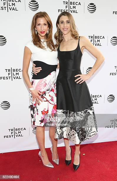 Alysia Reiner and Sarah Megan Thomas attend Tribeca Talks After The Movie Equity at SVA Theatre 2 on April 19 2016 in New York City