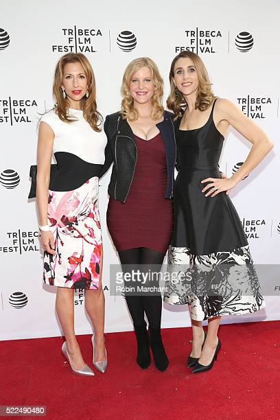 Alysia Reiner Anna Gunn and Sarah Megan Thomas attend Tribeca Talks After The Movie Equity at SVA Theatre 2 on April 19 2016 in New York City