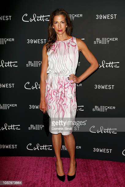 Alysia Reiner arrives for the New York screening of Colette at Museum of Modern Art on September 13 2018 in New York City