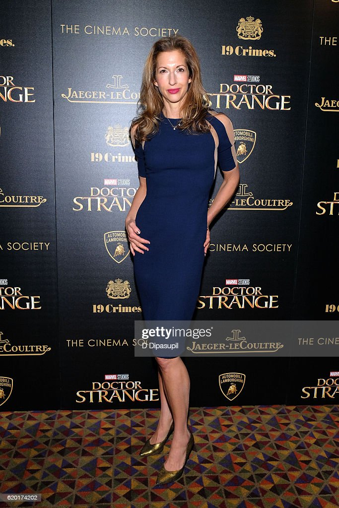 Alysia Reiner attends a screening of Marvel Studios' 'Doctor Strange', hosted by Lamborghini with The Cinema Society, Jaeger-LeCoultre, and 19 Crimes Wines, at AMC Empire on November 1, 2016 in New York City.