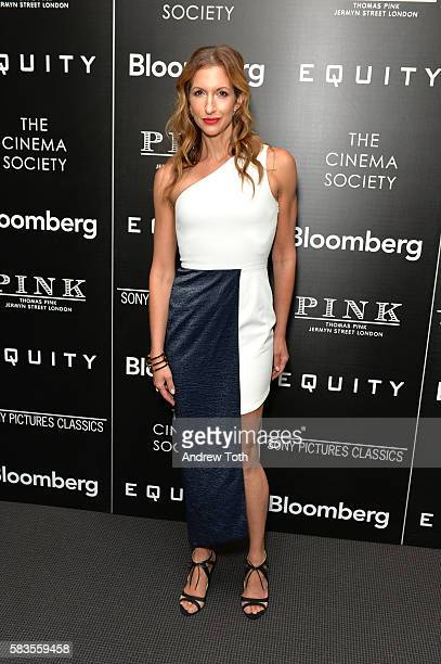 Alysia Reiner attends a screening of Sony Pictures Classics' 'Equity' hosted by The Cinema Society with Bloomberg and Thomas Pink on July 26 2016 in...