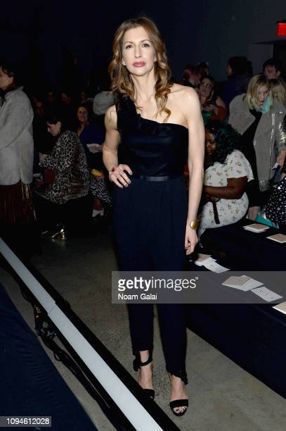 Alysia Reiner attends the 11 Honore front row during New York Fashion Week The Shows at Gallery I at Spring Studios on February 6 2019 in New York...