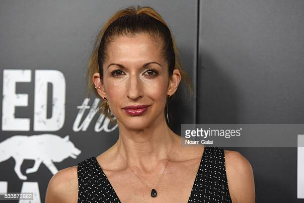 Alysia Reiner attends the AMC's Feed The Beast Premiere on May 23 2016 in New York City