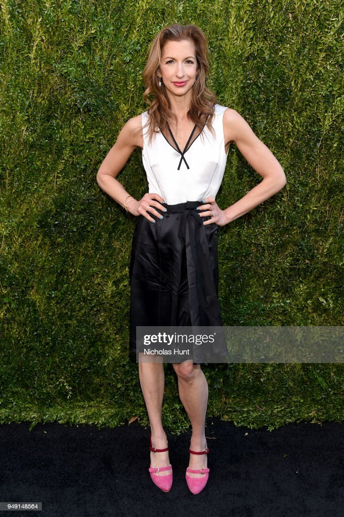 Alysia Reiner attends the CHANEL Tribeca Film Festival Women's Filmmaker Luncheon at Odeon on April 20, 2018 in New York City.