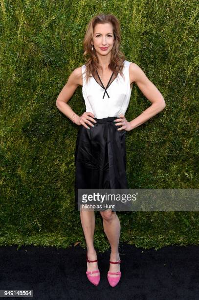 Alysia Reiner attends the CHANEL Tribeca Film Festival Women's Filmmaker Luncheon at Odeon on April 20 2018 in New York City